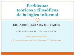 Problemas teóricos y filosóficos de la lógica informal