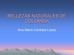 BELLEZAS NATURALES DE COLOMBIA