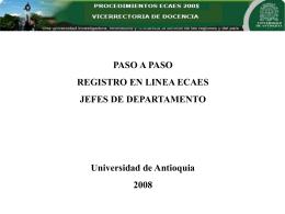 INSTRUCTIVO ECAES - Vicerrectoría de Docencia