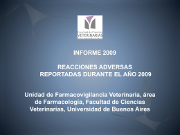 Informe 2009 - Facultad de Ciencias Veterinarias