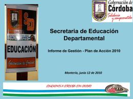 Diapositiva 1 - Gobernación de Córdoba