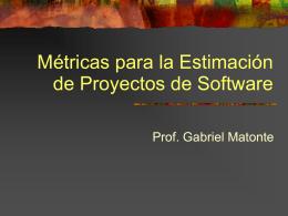 Métricas para la Estimación de Proyectos de Software