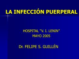 mc4LA INFECCIÓN PUERPERAL