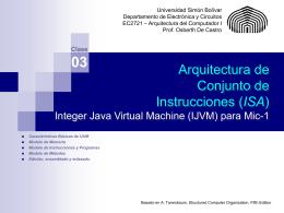 Microarquitectura Modelo de estudio: Mic-1