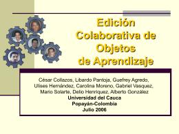 Edición Colaborativa de Objetos de Aprendizaje