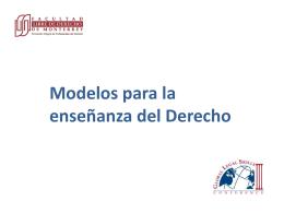 Modelos para la enseñanza del Derecho