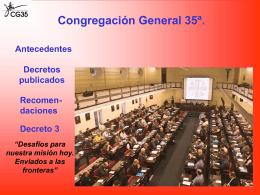 Reunión comunitaria sobre el decreto 3 (Presentación