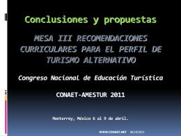 conclusiones iii rcta 2011