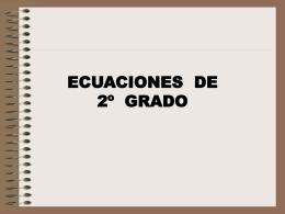 Primera práctica de Ecuaciones de segundo grado