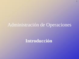 Administración operaciones 1