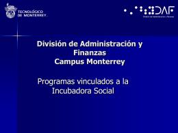 División de Administración y Finanzas Campus Monterrey