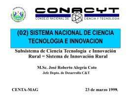 INNOVACION - Consejo Nacional de Ciencia y Tecnología