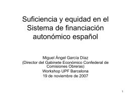 Suficiencia y equidad en el Sistema de financiación autonómico.
