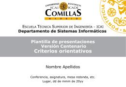 Plantilla_DSI_centenario - Universidad Pontificia Comillas