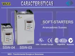 WEG - Transformando Energia en Soluciones CARACTERISTICAS