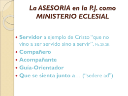2. ASESORIA MINISTERIO ECLESIAL - itepal-dpj