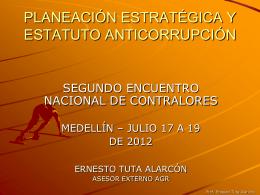 planeación estratégica y estatuto anticorrupción