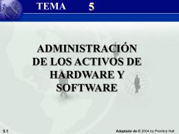 Tema 5: Administración de los Activos de Hardware y Software