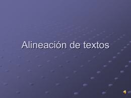 Alineación de textos - MediaServer Filología