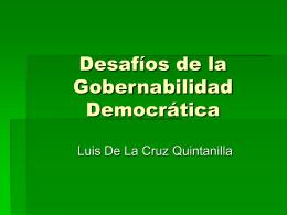 Desafíos de la Gobernabilidad Democrática