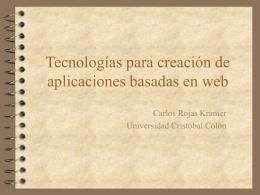 Tecnologías para desarrollo en web
