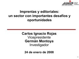 Sector Imprentas y editoriales
