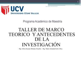 TALLER DE MARCO TEORICO Y ANTECEDENTES