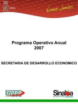 Programa Operativo Anual&nbsp - Portal de Acceso a la Información