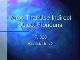 Verbs that use Indirect Object Pronouns Powerpoint