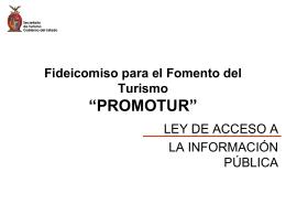 PROMOTUR - Portal de Acceso a la Información