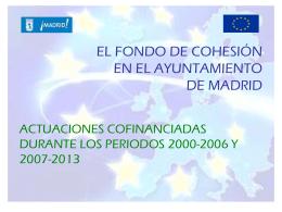 Actuaciones cofinanciadas con Fondos de Cohesión
