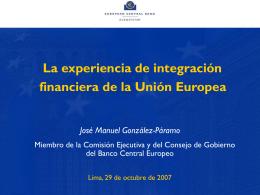 1. Los beneficios de la integración financiera - II Foro Perú