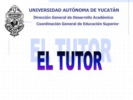 Sistema Institucional de Tutoría.