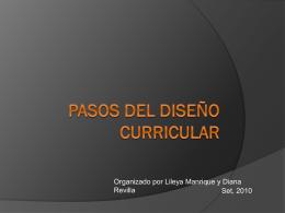 El Diseño Curricular…