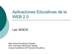 Aplicaciones Educativas de la WEB 2.0