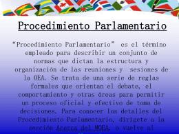 Procedimiento Parlamentario