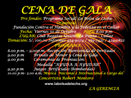 cena de gala y ceremonia de premiacion lugar: club regatas union