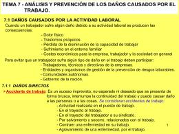 Tema 7 - Análisis y prevención de los daños