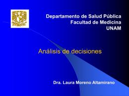 Moreno Altamirano L.Análisis de Decisiones. Presentación en PPT