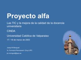 1. La UPC - proyecto alfa