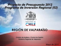 presentacion presupuesto de inversion 2012 gobierno regional