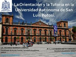 La Orientación y la Tutoría en la Universidad Autónoma