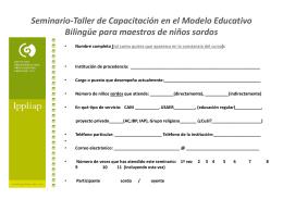 Fichas de Inscripción