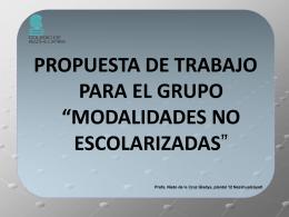 presentacion para MODALIDADES