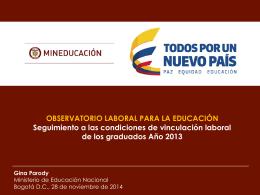 Presentación de PowerPoint - Observatorio Laboral para la Educación