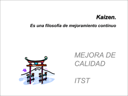 Kaizen - ELECTROMECANICA-ITST