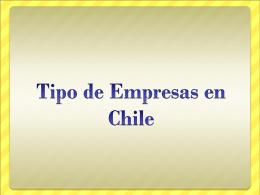 Tipo de Empresas en Chile