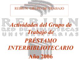 Componentes del grupo de trabajo