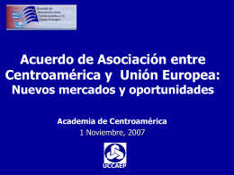 Informe de Avance sobre AACUE-CA previo a la I Ronda de