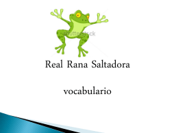 5to grado- vocabulario Real Rana Saltadora